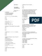 Soal UAS Ganjil Matematika Kelas 4 Semester 1