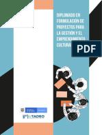 Folleto Diplomado en Proyectos culturales - Colombia (MinCultura 2019)
