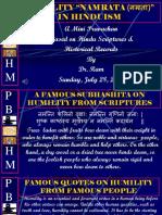 Humility (Nambrata) in Hinduism