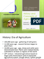 A1 - History and Concepts of Agriculture