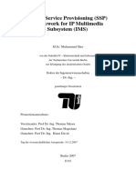 Secure Service Provisioning (SSP) frame work for IMS