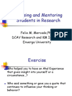 Research Advising & Mentoring