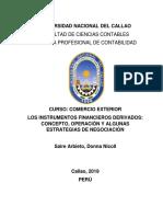 Los Instrumentos Financieros Derivados- Resumen