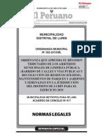 Ordenanza Arbitrios Municipales 2019 (IPC) - Lurín.pdf