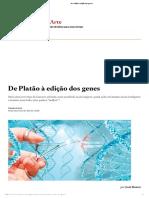 De Platão à Edição de Genes