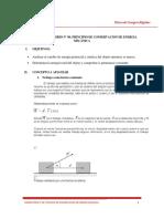 Práctica Experimental N° 08. Principio de Conservación de Energía Mecánica. Física de los Cuerpos Rígidos. Ciclo 2019 - I_mvs