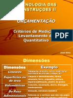 Critérios de Medição e Levantamento de Quantitativos (4º)