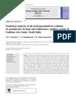 Análisis Estadístico de La Evolución Hidrogeoquímica de Aguas Subterráneas en Sistemas de Acuíferos Duros y Sedimentarios de La Cuenca Del Río Gadilam, Sur de La India (1)