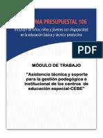 Modulo de Trabajo Pedagogico en Cebe 2019