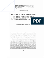 Science and Religion in the Face of the Environmental Crisis