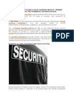 Premium Static Security Guarding Services World Wide by Nsa Global Security Services