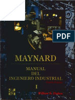 MAYNARD. Manual Del Ingeniero Industrial I - William K. Hodson