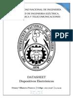 DISPOSITIVOS ELECTRONICOS.DATASHEET