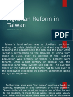Agrarian Reform in Taiwan