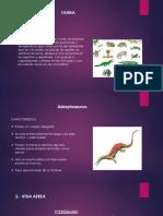 La Fauna en el Triasico