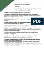 Patologias y Puntos a Tratar en La Auriculoterapia