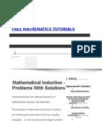 Free Mathematics Tutorials