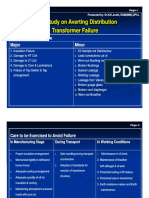 Case Study on Averting Distribution Transformer Failure
