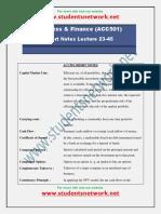 ACC501-Short Notes Lec 23-45