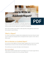 Our Help with Academic Report Writing