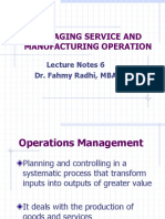 06-Managing Services and Manufacturing Operation
