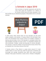Best Nursery Schools in Jaipur 2019