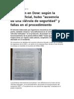 Informe en Bahia Blanca