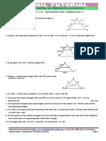 10th Maths Ch Similar Triangle Test Paper