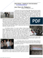 Mission Trip to Mindanao