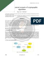 A Study on Current Scenario ofCryptographic Algorithms Ijariie4098