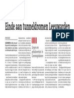 Einde aan tunneldromen Leeuwarden
