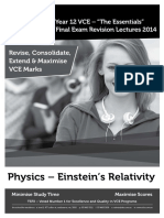 Vce Ess 2014 Notes STUDENT Yr12 Physics DS Einstein FINAL