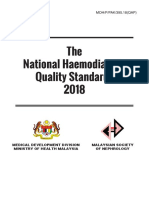 National Haemodialysis Quality Standards 2018