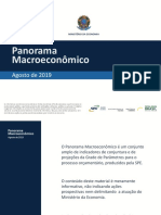 Panorama Macroeconômico Brasileiro - Agosto/19
