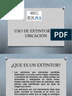 USO DE EXTINTORES Y UBICACIÓN