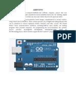 Arduino Sample Programs Documents