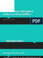 Unripe Mango (Mangifera Indica) as Food