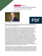 No Study on Socio-economic Impact of Business