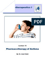13- Pharmacotherapy of Asthma