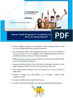 Abacus Math Program and Academic Performance How Are They Related
