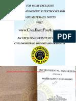 Environmental Engineering (Volume-1) Water Supply Engineering by B.C.punmia