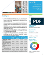 UNICEF Syria Crisis Humanitarian Situation Report - October 2018