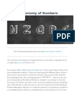 A Brief Taxonomy of Numbers