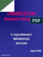 RCP intrahospitalario