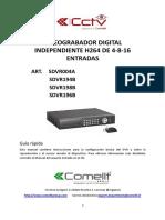 DVR Grabador digital independiente H.264 de 4-6-8 entradas