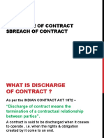 Discharge of Contract $Breach of Contract