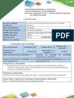 Guia de Actividades y Rubrica de Evaluación Fase 1 - Reconocimiento Opciones de Trabajo de Grado