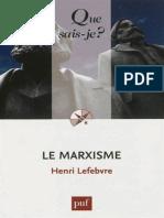 Le Marxisme - Lefebvre Henri