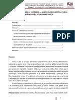 Primeras escuelas de la administración por Gil Yamerqui y Ravelo Aixa