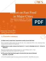Report of Fast Food (18th Feb 2014)